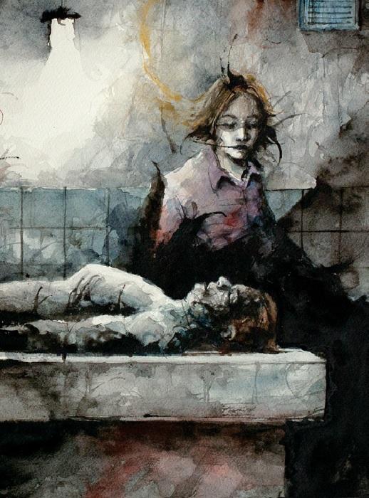 John y un cuerpo muerto